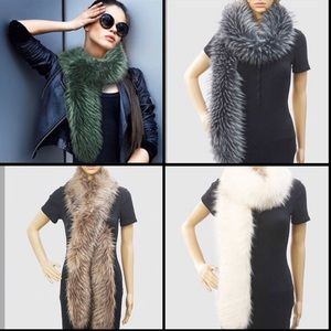 Luxurious Faux Fur Long Scarves,NWT